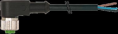 Kabeldose mit Kabel M12-A 5pol, gewinkelt, 5m